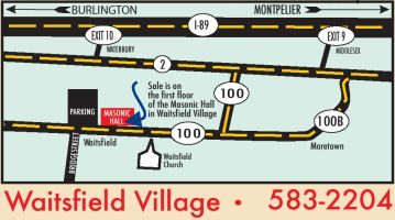 Map of Waitsfield Village, Vermont